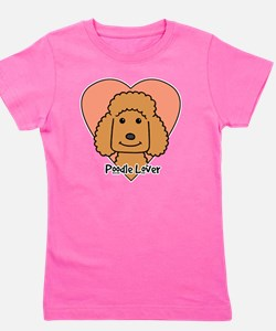 Cute Apricot poodle Girl's Tee