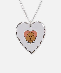 Funny Standard poodle cartoon Necklace