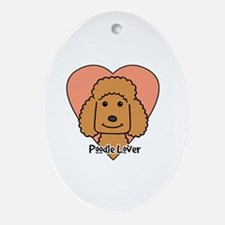 Cool Chocolate standard poodle Oval Ornament