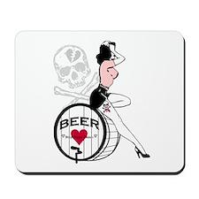Vintage Beer Girl Mousepad