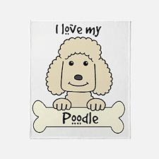 Funny Standard poodle cartoon Throw Blanket
