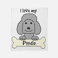 Unique Standard poodle cartoon Throw Blanket