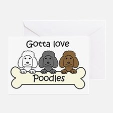 Funny Standard poodle cartoon Greeting Card