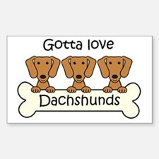 Funny Black and tan dachshund Sticker (Rectangle)