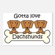 Cute Dachshund Postcards (Package of 8)
