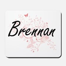 Brennan surname artistic design with But Mousepad