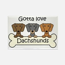 Unique Brown dachshund christmas Rectangle Magnet