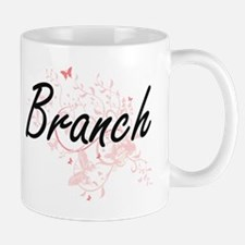 Branch surname artistic design with Butterfli Mugs