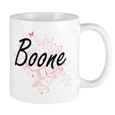 Boone surname artistic design with Butterflie Mugs
