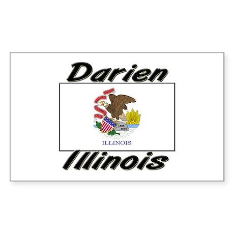 Darien Illinois Rectangle Sticker