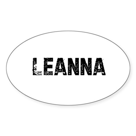 Leanna Oval Sticker