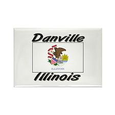Danville Illinois Rectangle Magnet