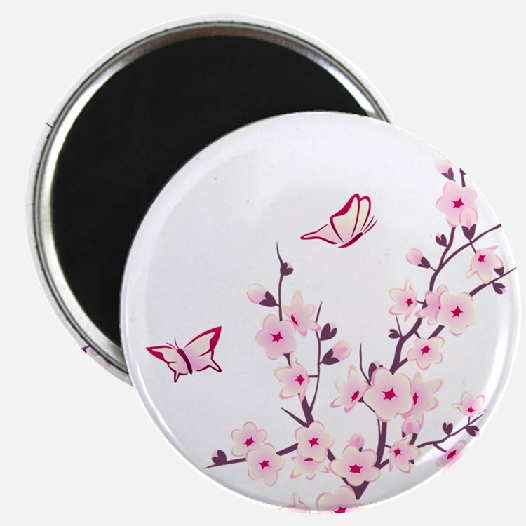 Cherry Blossom with Butterfly Magnets