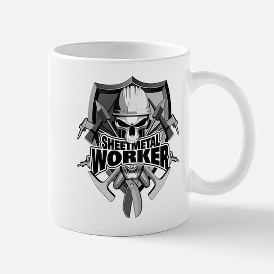 Sheetmetal Worker Skull Mugs