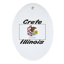 Crete Illinois Oval Ornament