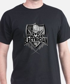 Proud Electrician Skull T-Shirt
