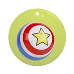 Toy Ball Vintage Print Ornament (Round)