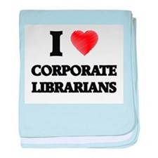 I love Corporate Librarians (Heart ma baby blanket