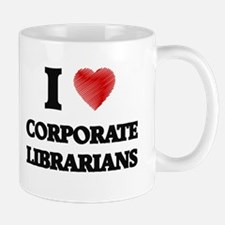 I love Corporate Librarians (Heart made from Mugs