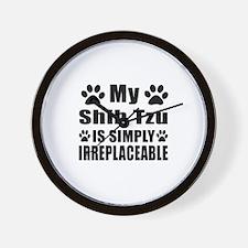 Shih Tzu is simply irreplaceable Wall Clock