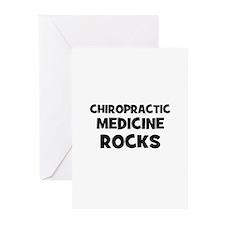 Chiropractic Medicine Rocks Greeting Cards (Pk of