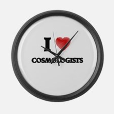 I love Cosmologists (Heart made f Large Wall Clock