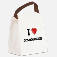 I love Cosmologists (Heart made f Canvas Lunch Bag