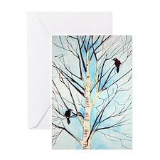 Lucky Blackbirds Greeting Cards