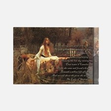 The Lady of Shalott postcard 2 Magnets