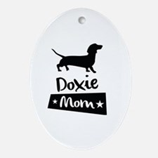 Cute Doxie Oval Ornament