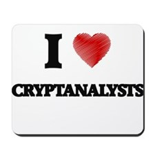 I love Cryptanalysts (Heart made from wo Mousepad