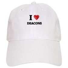 I love Deacons (Heart made from words) Cap