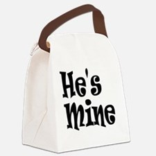 Cute Hes mine Canvas Lunch Bag