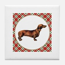 Smooth Red Dachshund Tile Coaster