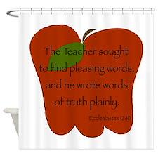 Ecclesiastes 12:10 Shower Curtain
