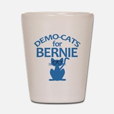 Demo-Cats for Bernie Shot Glass
