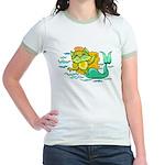 Kitty Mermaid Jr. Ringer T-shirt