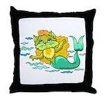 Kitty Mermaid Throw Pillow