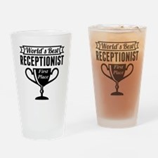 World's Best Receptionist Drinking Glass