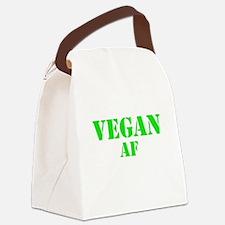 Vegan AF Green Canvas Lunch Bag
