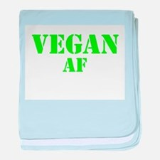 Vegan AF Green baby blanket