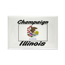 Champaign Illinois Rectangle Magnet