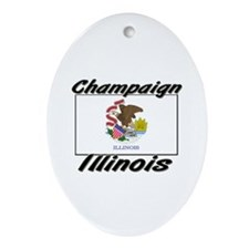 Champaign Illinois Oval Ornament
