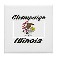 Champaign Illinois Tile Coaster