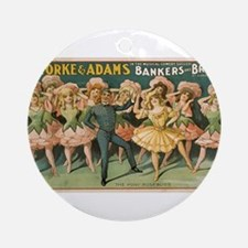 Vintage poster - Bankers and Broker Round Ornament