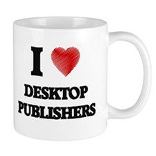 I love Desktop Publishers (Heart made from wo Mugs