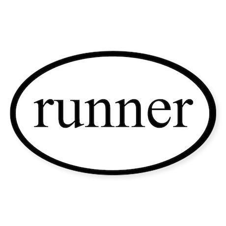 Runner Oval Sticker