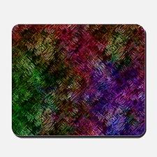 Dark Black Scribbled Neon Pattern Mousepad