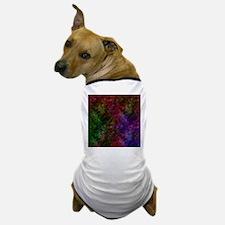 Dark Black Scribbled Neon Pattern Dog T-Shirt