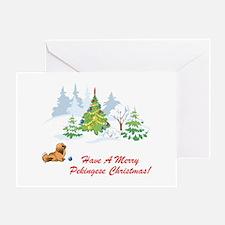 Merry Pekingese Christmas Greeting Card
